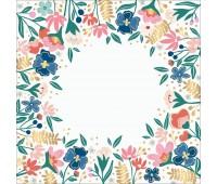 Ацетат - Pick Me Up - Pink Paislee - Gold Foil - 30x30