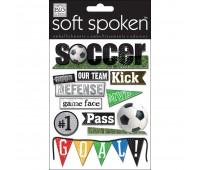 Наклейки 3D про футбол с акриловыми элементами Soft Spoken