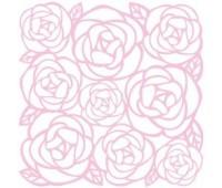 Вырубка Розы из кардстока