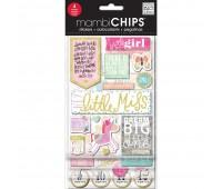 Наклейки 3D, набор со стикерами Mambi Chips, Me & My Big Ideas
