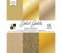 Набор одностороннего кардстока Solid Golds