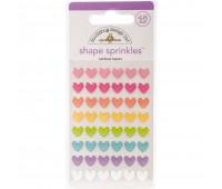 Дотсы в форме сердечки Rainbow Hearts