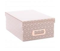 Коробка для хранения c розовым фольгированием Gray Geo  28x19x11