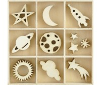 Набор деревянного декора Star & Moon, 1/5 набора
