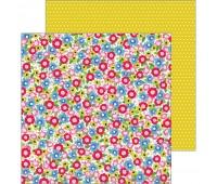 Лист двухсторонней бумаги Field Of Flowers, My Bright Life