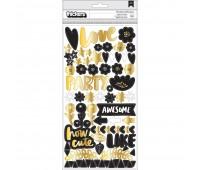 Чипборд с фольгированием золото Amy Tan Shine