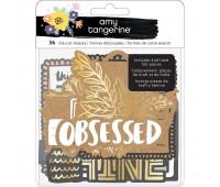 Набор высечек крафт и с золотым фольгированием от Amy Tan Shine
