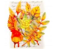 Набор высечек из тонкого фетра Осенние листья