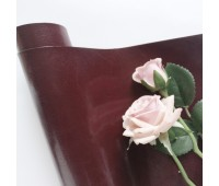 Переплетный глянцевый кожзам с фактурой, цвет  шоколадный с краснотой 13, 35*25 см