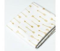 Золотые стрелы на белом. Длинна стрелы 5,5 см, 45-55 см