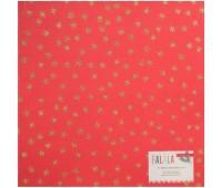 Кардсток с золотыми глитерными звездами DIY Shop 4 Specialty Red. 30х30 см.