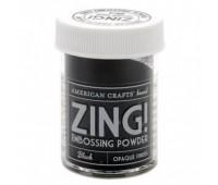Пудра для эмбоссинга «ZING». Матовая, черная.