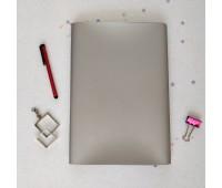 Переплетный матовый кожзам c фактурой металлик, цвет серебристый, 35*25 см