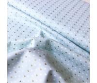 Ткань Michael Miller Золотые сердечки на голубом, 45-55 см