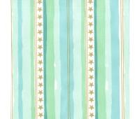 Ткань Michael Miller Мятная полоска с золотыми звездами, 45-55 см