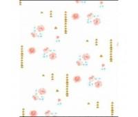 Ткань Michael Miller Цветы с золотом на белом, 45-55 см