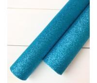 Глиттерная ткань, цвет Голубой.