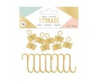 Набор крючков и биндеров Hooks. Wire System Storage.