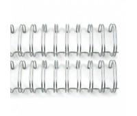 Металлическая пружина 1.6 см, серебренная, 2 шт