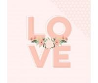 Лист двухсторонней бумаги  LOVE, BLISS