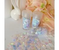 Пайетки хамелион цвет голубой, 5 мм