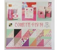 набор бумаги двухсторонней с голографическим эффектом, колекция Confetti party