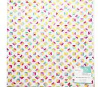 Ацетатный лист, треугольники в квадрате Dear Lizzy Happy Place