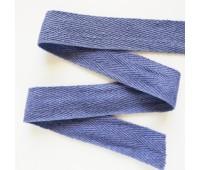 Лента киперная, 2,5 см, цвет серо-фиолетовый, 100 см