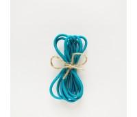 Резинка круглая, 2,5 мм, цвет темный бирюзовый