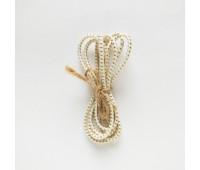 Резинка круглая, 2,5 мм, цвет белый в золотую точку