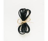 Резинка круглая, 2,5 мм, цвет черный