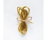 Резинка круглая, 1,5 мм, цвет золотой