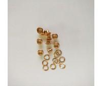 Люверсы  металлические, цвет розовое золото, 10 шт