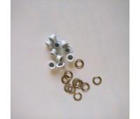 Люверсы  металлические, цвет белый, 10 шт