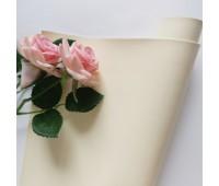 Переплетный глянцевый кожзам с фактурой, цвет  слоновой кости 56, 35*25 см