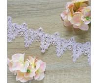 Кружево Ирис, цвет розовый, 7 см