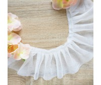 Фатиновые рюши, цвет белый, 8 см, 10 см