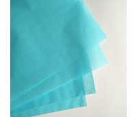 Бумага тишью, цвет бирюзовый, 50-70 см