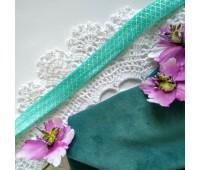 Лента-резинка, цвет бирюзовый, 30 см