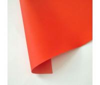 Переплетный матовый кожзам  с поверхностью ТАЧ, цвет красный апельсин