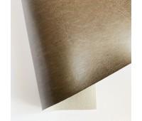 Переплетный глянцевый кожзам с фактурой, цвет мокко, 25х35 см