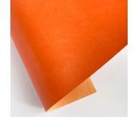 Переплетный глянцевый кожзам с фактурой, цвет морковный, 25х35 см
