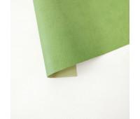 Переплетный матовый кожзам с тиснением под кожу, оливковый