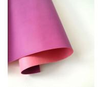 Переплетный матовый кожзам, цвет ультро-розовый