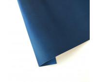 Переплетный текстурный кожзам, цвет темно - синий