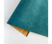 Искусственный нубук (замша), цвет морской глубины 25-34 см