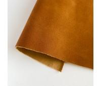 Искусственный нубук (замша), цвет рыже-коричневый 25-34 см