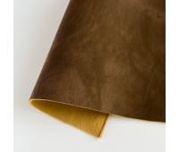 Искусственный нубук (замша), цвет темно-коричневый 25-34 см