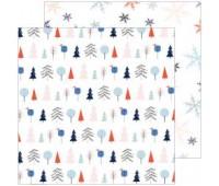 Лист двухсторонней бумаги  FESTIVE TREES, DECEMBER DAYS