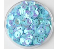 Пайетки, цвет голубой голографический, 6 мм тифани галагра
